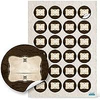 48pezzi beige marrone Adesivi Etichette Adesivi Vintage con 4cm diametro; 1A qualità vuote in produzione propria