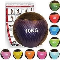 POWRX - Balón medicinal + PDF Workout I Peso Wall Ball 1 - 10 kg Varios a7fdc7b30a15