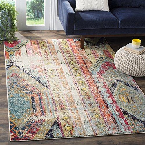 Safavieh Jade gewebter Teppich, MNC222F, Mehrfarbig, 154 X 231  cm
