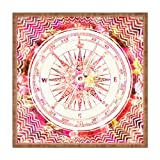 DENY Designs Bianca grün Follow Your Own Path Square Tablett, 12 x 12-Pink