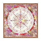 DENY Designs Bianca grün Follow Your Own Path Square Tablett, 12x 12-Pink