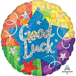 Amscan International 3539601 Good Luck Confetti Holo Globo de papel de aluminio
