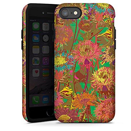 Apple iPhone X Silikon Hülle Case Schutzhülle Blumenwiese Blumen Muster Tough Case glänzend