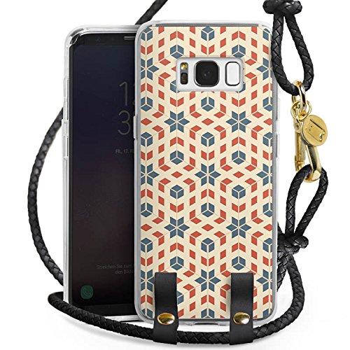 Samsung Galaxy S8 Carry Case Hülle zum Umhängen Handyhülle mit Kette Retro 80er 80s (Cross Body 80er)