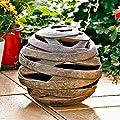 Windlicht Terracotta-Kugel Saturn, klein von Gärtner Pötschke - Du und dein Garten