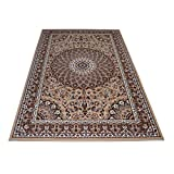 WEBTAPPETI.IT Tappeto Classico in Stile Persiano Elegante e Raffinato-Disponibile in Varie Misure Royal Shiraz 2082-BEIGE 140x210