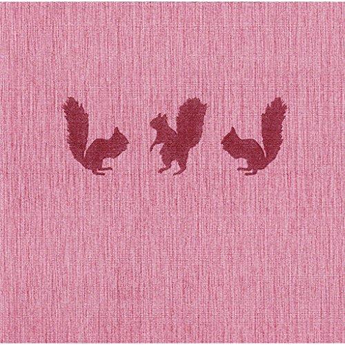 the napkins TND40.20.BO.SQ 20 Plus 1 Deluxe Servietten, stoffähnlich, X-Mas Edition, 40 x 40 cm, Bordeauxrot mit Motivdruck Christmas Star Servietten