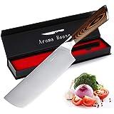 Couteau de chef Nakiri Couteau professionnel Couteau de cuisine 17,5 cm Couteau tout usage Acier inoxydable allemand Lame de