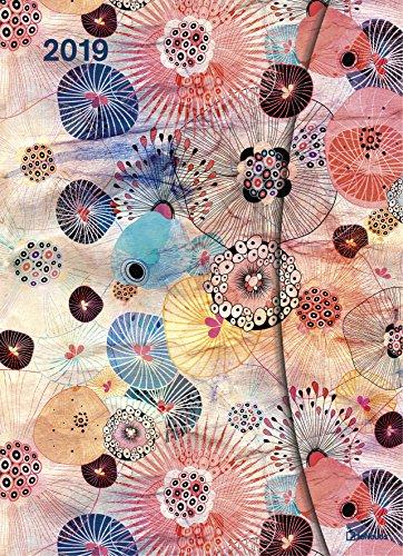 Flower Fantasy 2019 - Magneto Diary large, Taschenkalender, Wochenkalender, Buchkalender  -  16 x 22 cm Buch-Cover