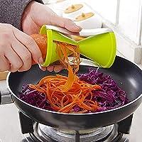 KANTHI Stainless Steel Vegetable Spiral Slicer, Random Colour