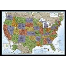 United States Decorator, laminated : Wall Maps U.S.: PP.NGUS622081 (Reference - U.S.)