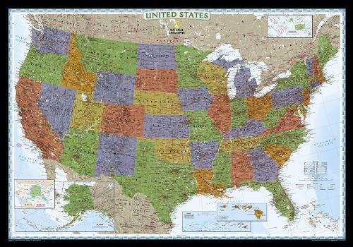 United States Decorator, laminated : Wall Maps U.S.: PP.NGUS622081 (Reference - U.S.) par National Geographic Maps