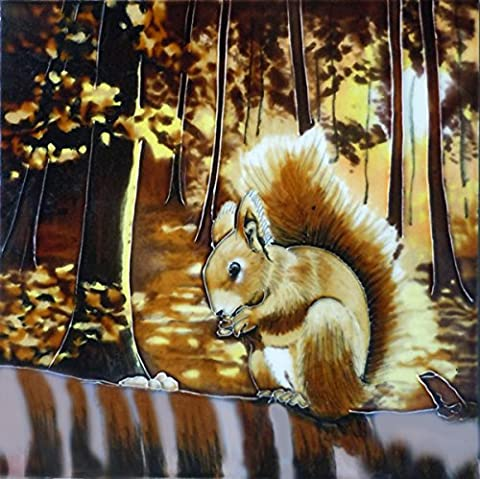 Squirrel' 8x8, Decorative Ceramic Tile by Fiesta Studios
