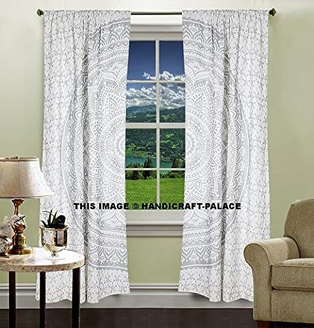 Silber Ombre Mandala Vorhänge, Tapisserie, Home Decor, Wand, Drapes, indischen Mandala, Fenster Behandlung, Vorhang, Bildschirm, Draperie, Rollo