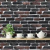#7: DeStudio 'Bricks Deep Brown' Wallpaper Sticker