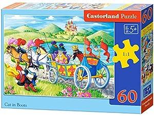 Castorland Cat in Boots 60 pcs Puzzle - Rompecabezas (Puzzle Rompecabezas, Dibujos, Niños, Chica, 5 año(s), Interior)