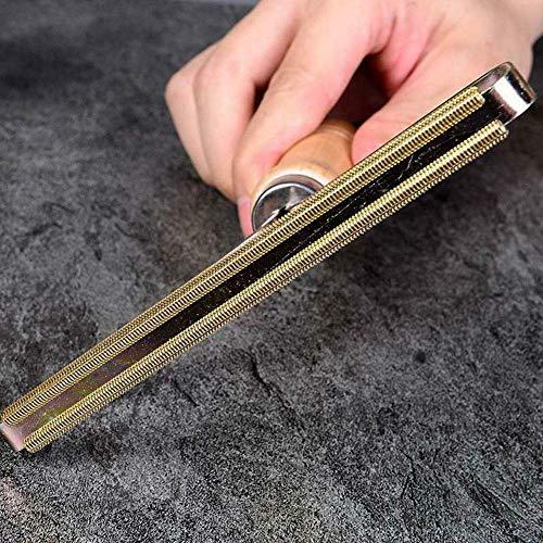 Removedor de pelusa,  afeitadora para ropa,  máquina de afeitar manual con herramienta de corte con rasguño,  removedor portátil de madera para pelusa para restaurar el suéter y las telas removedor