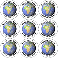 144 Personalised Planet Earth 30mm Reward Stickers for School Teachers, Parents