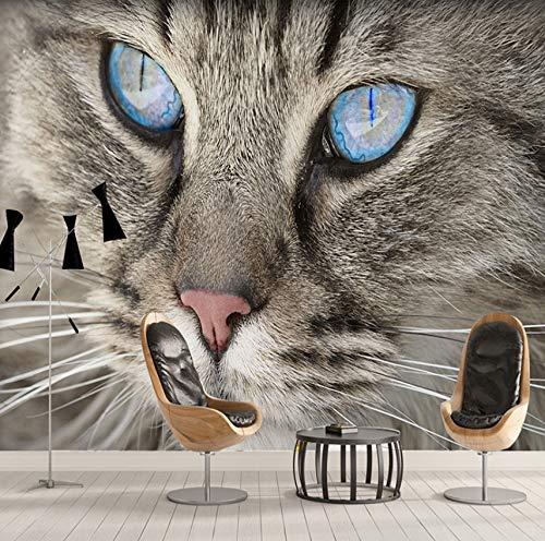 3D Fototapete Für Wände Rollen Cat Eye Große Wandbilder Moderne Einfache Wohnzimmer Schlafzimmer Tapeten Wohnkultur Malerei, 260X180 Cm (102,36X70,87 In)