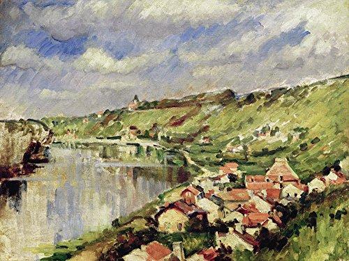 Artland Alte Meister Bild Paul Cézanne Wandbild 90 x 120 cm Landschaft am Rande von l'Oise Leinwandbild Impressionismus Kunst B5PN -