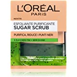 L'Oréal Paris Scrub Viso e Labbra Sugar Scrub, Esfoliante Purificante con Cristalli Fini di Zucchero e Semi di Kiwi, 50 ml, C