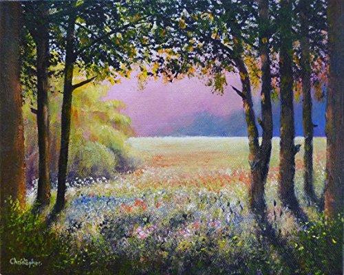 sole-e-ombre-pittura-25-x-20-cm-luce-del-sole-ombre-scure-alberi-ombrosi-fiori-campo-di-paesaggio-or