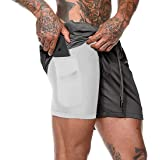 Belovecol Men's Sports Shorts Summer Running Gym Breathable Quick Drying Training Joggers Workout Shorts with Pockets