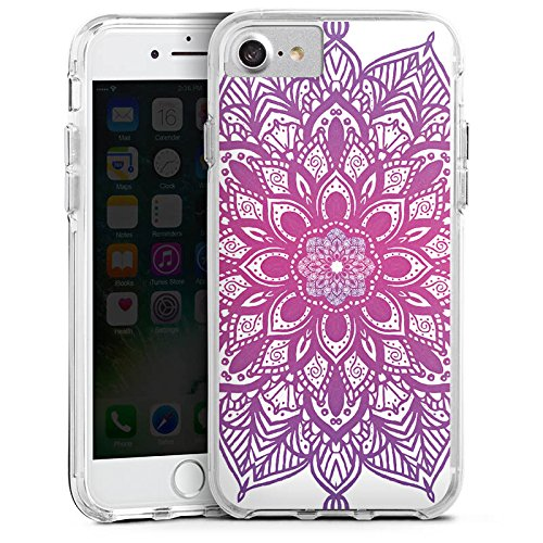 Apple iPhone 7 Bumper Hülle Bumper Case Glitzer Hülle Mandala Sommer Summer Bumper Case transparent