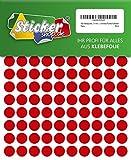 480 Klebepunkte, 15 mm, rot, aus PVC Folie, wetterfest, Markierungspunkte Kreise Punkte Aufkleber