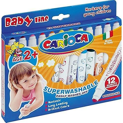 mas dibujos kawaii Carioca - Caja de 12 rotuladores Super Baby (42249)