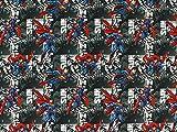 Baumwolljersey Superman grau, Meterware ab 0,5 m /