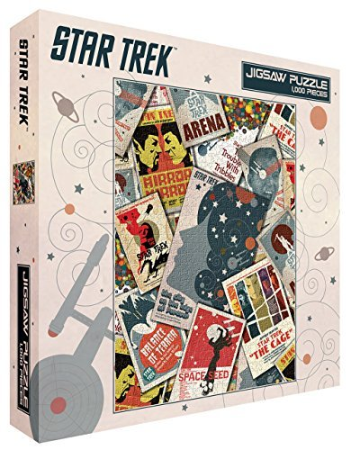 Star Trek Collage Sci-Fi TV Television Show (Juan Ortiz retro art) 1000 Piece 20x27 Inch Jigsaw Puzzle (Sci-fi-tv-shows)
