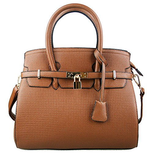 Miss Lulu – Stile vintage boston Tote/Borsa a tracolla/borsetta Brown