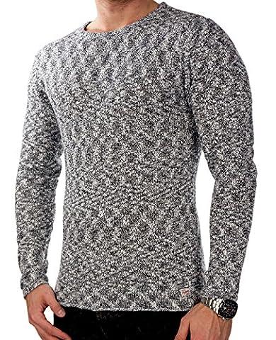 JACK & JONES jjorMEL Herren Knit Strickpullover Sweatshirt Muster Slim