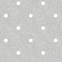 Home Direct Mantel de Hule, Rectangular 140 x 200cm Lunares Gris Claro