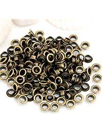 200X Remaches Metal Redondo 10mm Bronce Tachuelas Studs Bolsa/Calzado/Guante