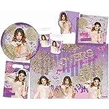 Procos 10108569B - Set para fiesta infantil - Disney Violetta - Edición oro, tamaño M, 49 piezas