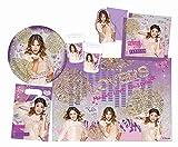 Procos 10108569B - Accessori per feste per bambini, motivo: Violetta-Gold Edition, 49 pz