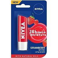 NIVEA Lip Balm, Fruity Strawberry Shine, 4.8g