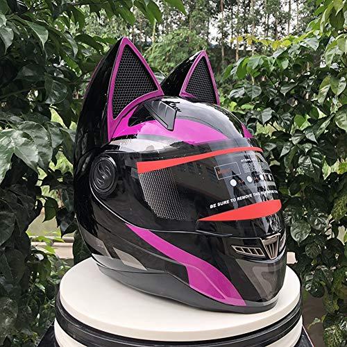 Tik Oreja de Gato con Casco Angular Casco de Moto