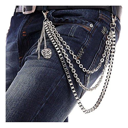 GoGou Punkrock Hose Wallet Schlüsselanhänger Hosen Schädel-Anhänger Hiphop Jean Gothic Keychain (Hose Jean-stil)