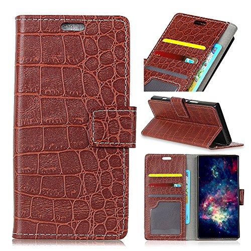 Casefirst Motorola Moto X4 Wallet Case, Motorola Moto X4 Flip Case, Classy Slim Leather Wallet, ID Credit Card Slot Holder for Motorola Moto X4 - Brown I830-serie