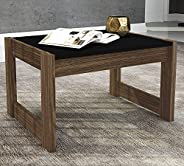 Tecnomobili Coffee Table, Black/Walnut, RIV013