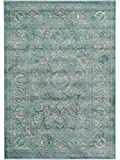 Benuta Vintage Teppich im Used-Look, Kunstfaser, Blau, 80 x 150.0 x 2 cm