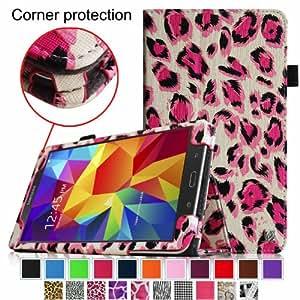 Fintie Samsung Galaxy Tab 4 7.0 Folio Case - Slim Fit Premium Vegan Leather Cover for Samsung Tab 4 7-Inch Tablet, Leopard Magenta