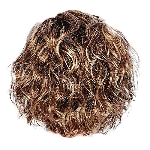 Perücke Blond Kurz Locken Damen Kurzhaar Lockig Wig (Blond)