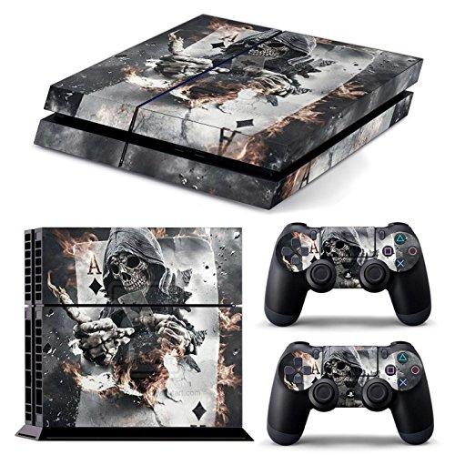 PS4 *Ace Skull* COMPLETO DEL CORPO Accessorio dell'involucro adesivi copertura della pelle Decal per PS4 Playstation 4