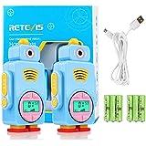 Retevis RT36 Walkie Talkie Niños Recargable, Walkie Talkie Niños con USB Cable y Baterías, PMR446 10 Tonos VOX Linterna, Walk
