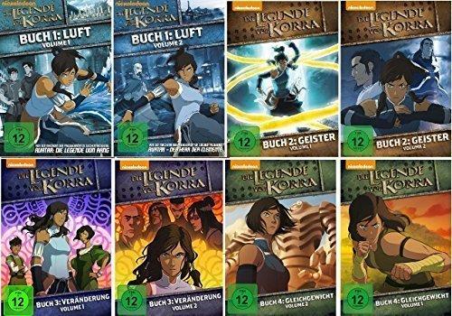 Die Legende von Korra 1.1 - 4.2 im Set - Deutsche Originalware [8 DVDs] (Anime-filme-set)