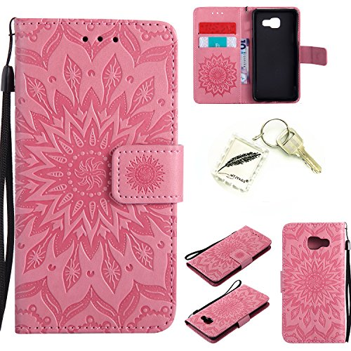 Silikonsoftshell PU Hülle für Samsung Galaxy A3 2016 /A310 (4,7 Zoll ) Tasche Schutz Hülle Case Cover Etui Strass Schutz schutzhülle Bumper Schale Silicone case(+Exquisite key chain X1) #KC (1)
